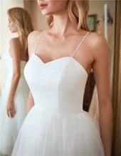 Lorie Wedding Dress Spaghetti Straps Lace Up A-line Bride Dress White Ivory Sample Vestido De Casamento Custom Made Size