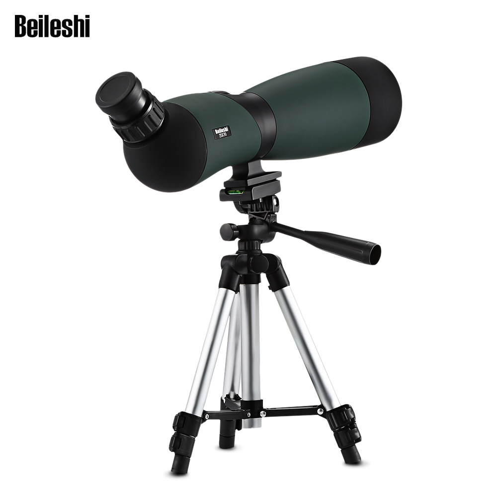 Beileshi 25x70 15X Spotting Scope Telescope Monocular Bak4 Prism With Tripod With A Storage Bag