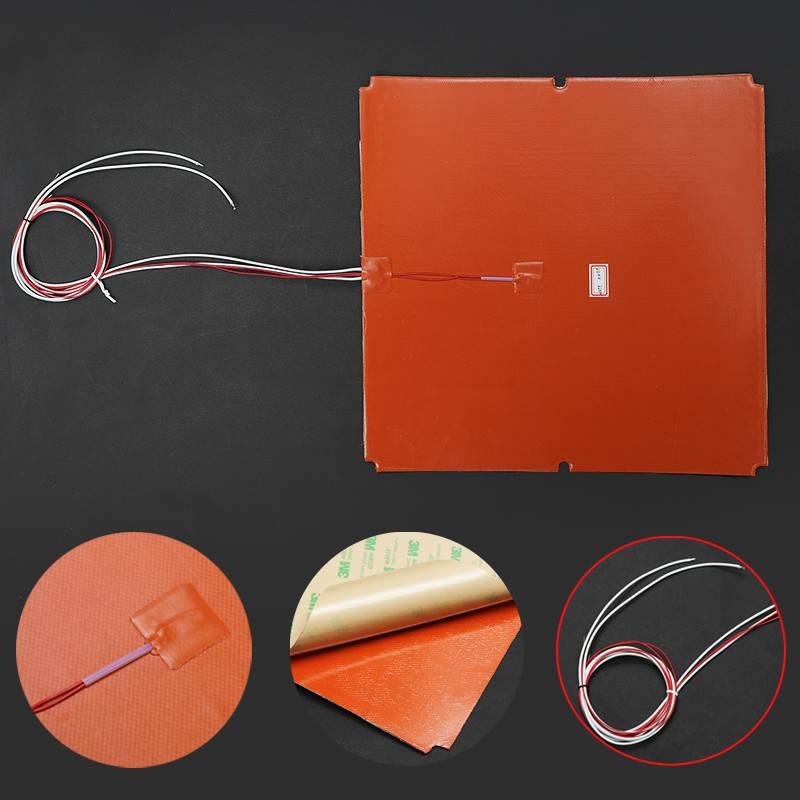 330x330mm 750 W mise à niveau Silicone chauffage pour Tronxy X5S 3D imprimante lit de chaleur Silicone électrique coussins de chauffage bande tapis de lit de chaleur