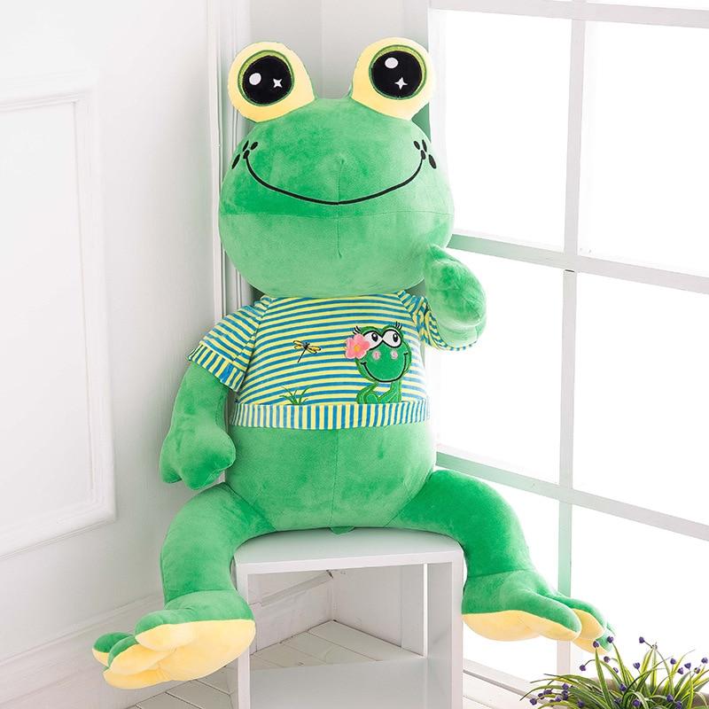 Kawaii Plush Frog Doll Large Size 75cm Giant Plush Animals Toys Doll