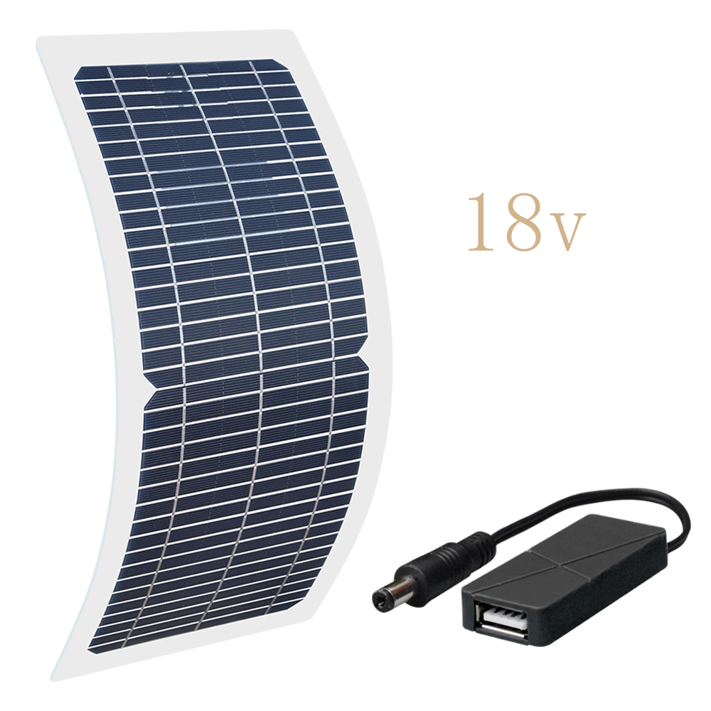 Image 3 - Xinpuguang 10W 18V/12V/6V Solar Panel Semi Flexible Cable Monocrystalline Cells DIY Module USB Connector Charger DIY Kit Outdoor-in Solar Cells from Consumer Electronics