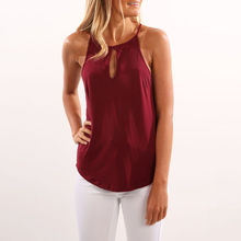 Summer Casual Camisole Hot Women Sexy Sleeveless O-Neck Solid Loose Four Colors Size S-2XL