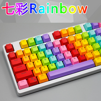 Uso geral 104 teclas teclado mecânico arco-íris chave boné pbt translúcido keycap
