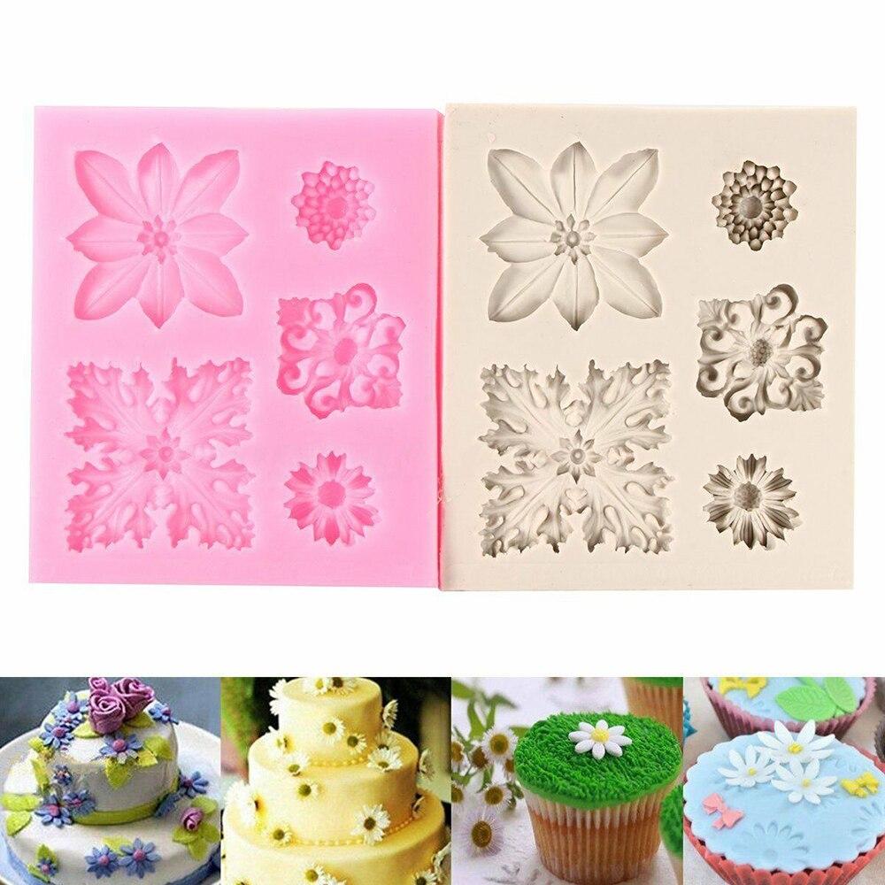 Lace Soft Silicone Mold Mould Sugar Craft Fondant Mat Cake Decoration Baking ^P