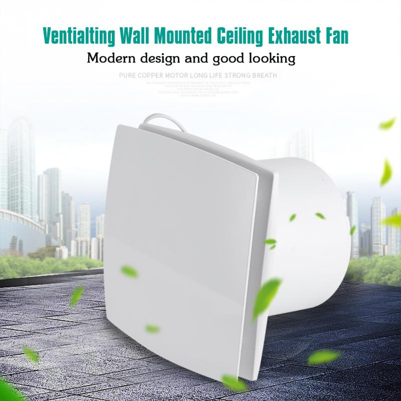 US $40.46 35% OFF|220V Kitchen Bathroom Exhaust Fan Ceiling Wall Mounted  Ventilation Exhaust Blower Air Cleaning Vent Fan Home Ventilating System-in  ...
