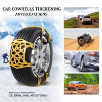 New 6pcs Car Anti Skid Chain Universal Portable Thickening Widened Snow Antiskid Chain Tire Chains Snow Chai With Gloves Wrench