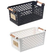 Plastic Desktop Storage Basket Rectangular Bathroom Portable Box Bath Kitchen Debris Multi-Purpose Baskets