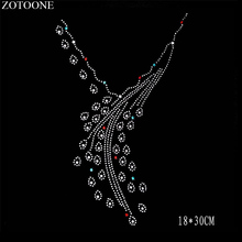 ZOTOONE Flatback Clear Strass Hotfix Rhinestone Necklace Applique Iron on Patch for Clothes Decoration Rhinestones Crystal E 2 5mm square wave resin rhinestone trim banding hotfix iron on strass mesh bridal beaded applique for diy dress clothes jewelry