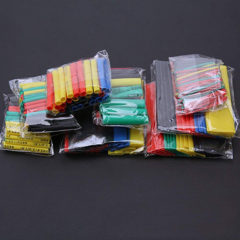 Shrinking 328Pcs Insulation Sleeving Thermal Casing Car Electrical Cable Tube Kits Heat Shrink Tube Tubing Wrap Sleeve Assorted(China)