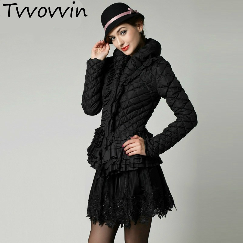 TVVOVVIN Clean stock 2019 Autumn Winter Keep Warm Tassels silm tops sexy women's coat   Parkas   thick Z845