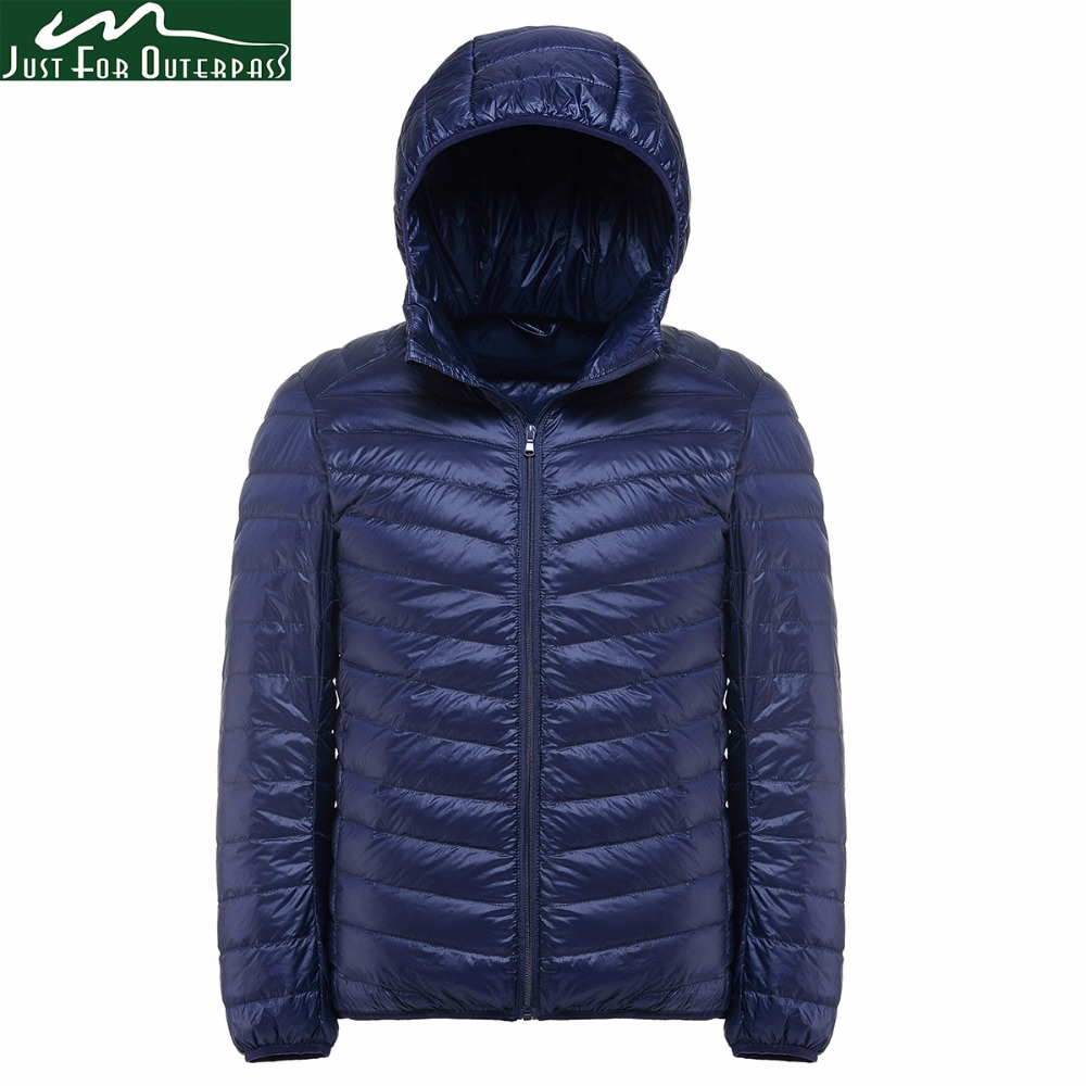 New Casual Brand White Duck Down Jacket Men Autumn Winter Warm Hooded Coat Mens Ultralight Duck Down Jacket Male Windproof Parka Buy One Give One Down Jackets