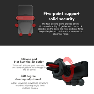 Image 5 - הכבידה אוניברסלי סוגר רכב טלפון מחזיק אוויר Vent הר Stand קליפ עבור Smartphone במכונית מחזיק עבור Iphone X Xs מקסימום סמסון G