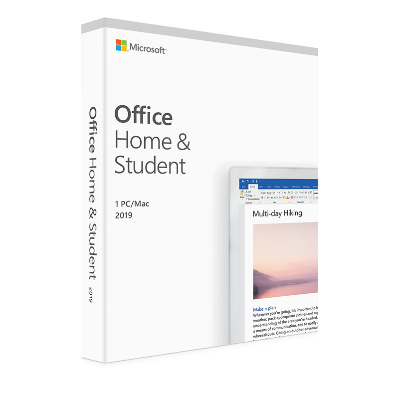 Image 5 - Microsoft Office Home and Student 2019 | 1 device, Windows 10 PC/Mac Product Key Card