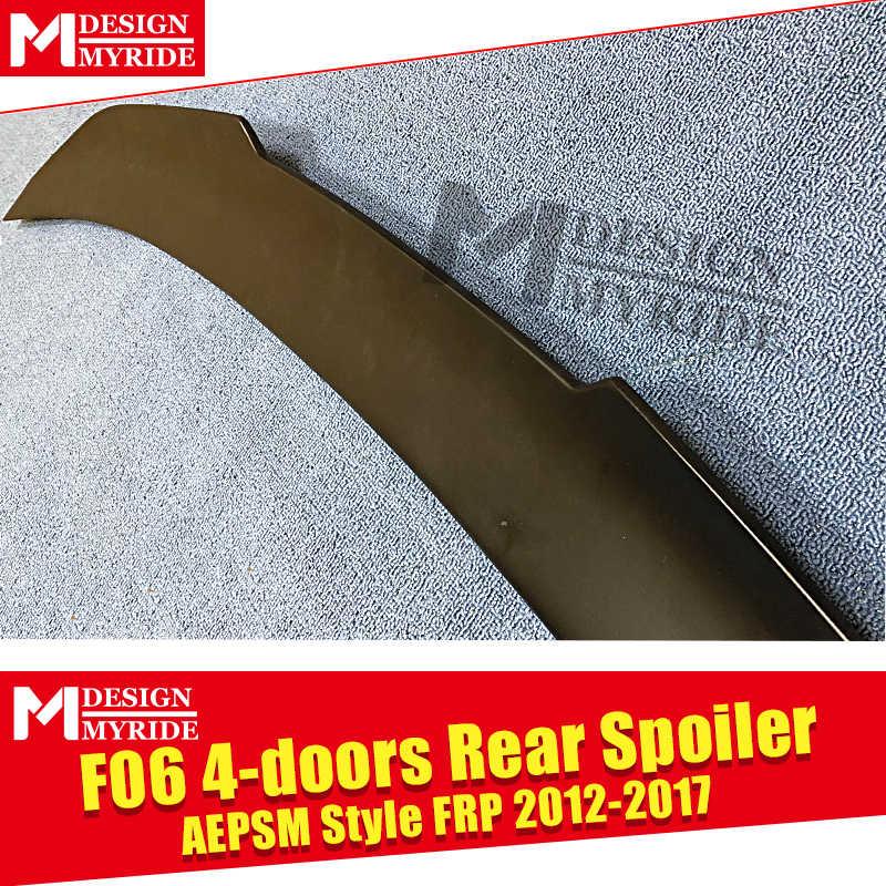 F06 Spoiler madre ala AEPSM estilo imprimación FRP negro para BMW F06 4-puertas 640iXD 640iGC 650iXD difusor trasero madre Spoiler 2012-17