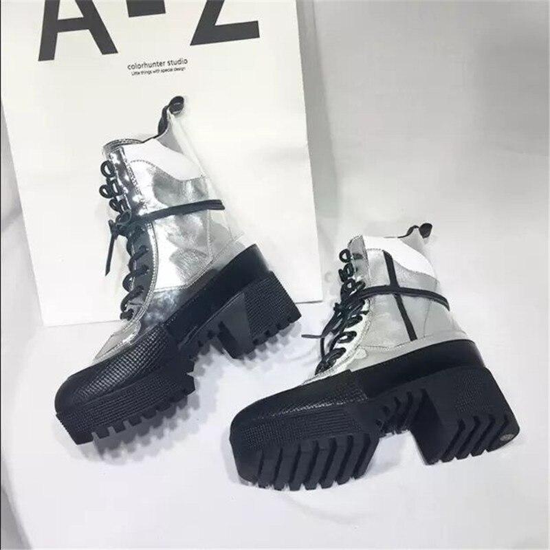 Diseñador Moda Zapatos Para Mujeres De as Picture Lujo As Mujer Picture Punk Con Botas Tacón Grueso Alto Estilo Plataforma Cuña qzqtOA5xfn