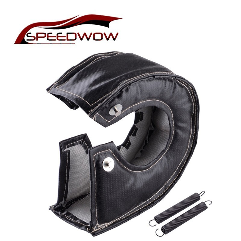 SPEEDWOW <font><b>Turbo</b></font> Heat Shield Turbocharger <font><b>Blanket</b></font> Cover For T2 T25 T28 GT28 GT30 GT35 For Most <font><b>T3</b></font> Turbine Housing <font><b>Turbo</b></font> Charger image