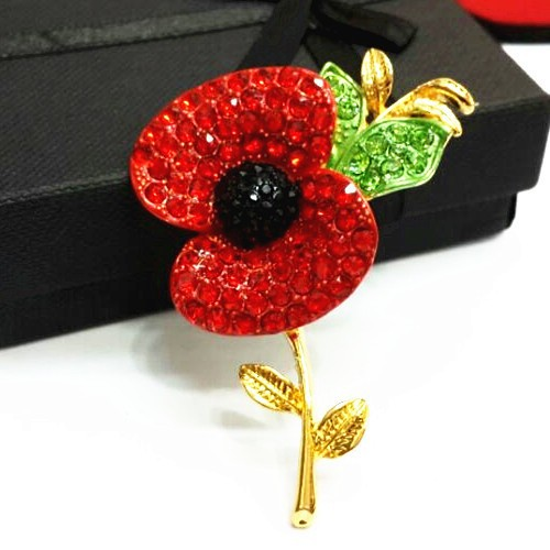 Dhl free shipping sparkle red crystal poppy flower brooch uk popular dhl free shipping sparkle red crystal poppy flower brooch uk popular remembrance day flower brooch cheap price top quality in brooches from jewelry mightylinksfo