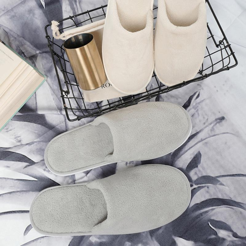 Women Men Coral Velvet Indoor Slippers Washable Thickened Autumn Winter Home Slippers Travel Hote Guest Wear Soft Slipper Shoes