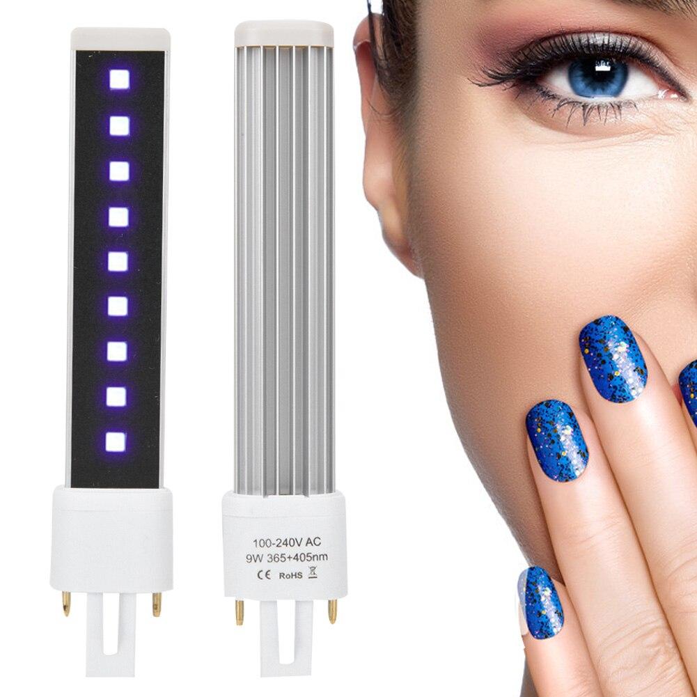 Nails Art & Werkzeuge Nageltrockner 405nm Doppel Lichtquelle 9 W Nagel Gel Curing Trockner Licht Rohr Ersatz Lampe Birne Mit Einem LangjäHrigen Ruf 365