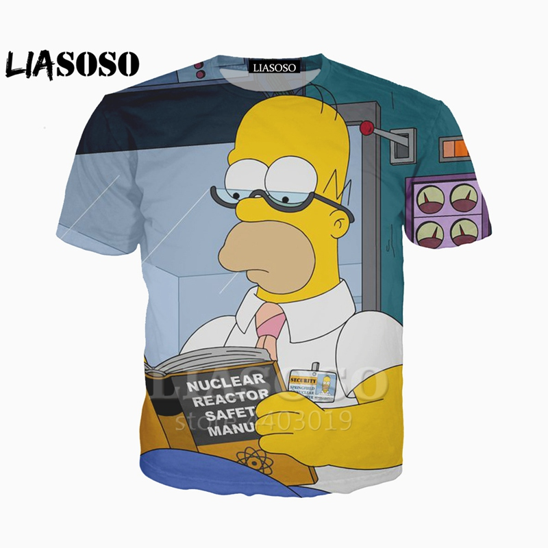 e45199f9 Detail Feedback Questions about 3d printed Newest clothing The Simpsons Man  Women t shirt casual Harajuku Cartoon Funny tshirt Street Wearing Tee on ...