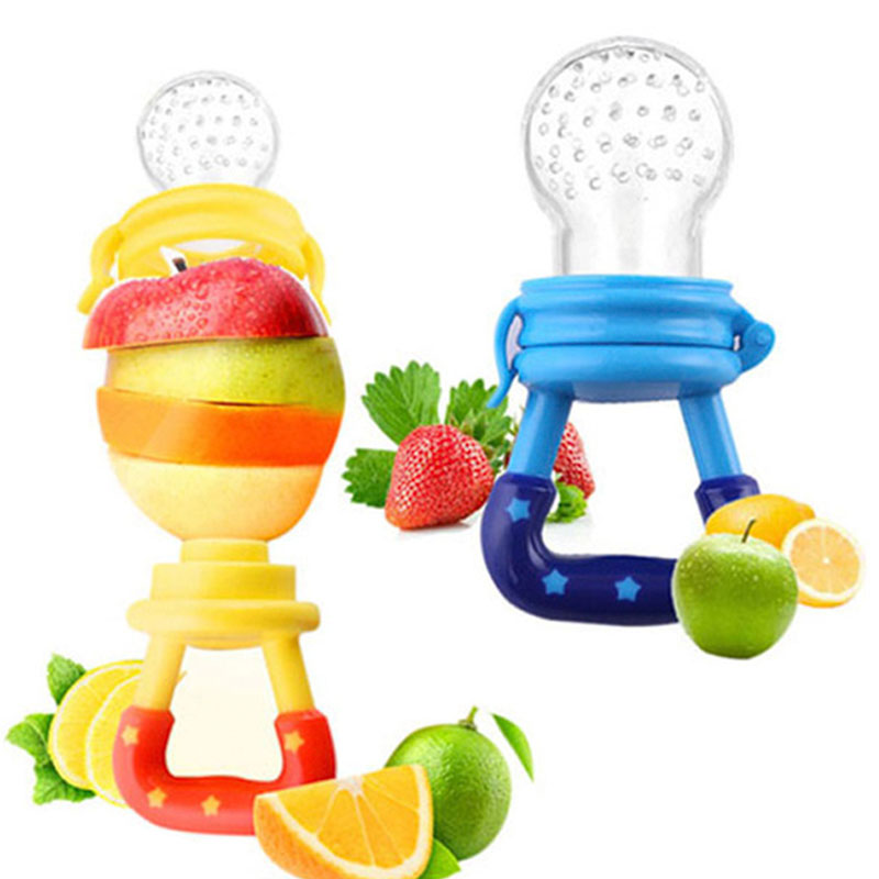 1Pcs Baby Pacifiers Feeder Nibbler Kids Fruit Feeder Nipples Feeding Bottles Safe Baby Supplies Nipple Teat Pacifier Bottles