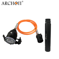 Archon DH30II Upgrade 3600lm Split Type Diving Torch Light Scuba Dive Flashlight Rechargeable Cave Lamp 26650 Battery Included