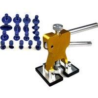 19Pcs Golden Car Paintless Dent Repair Tools Universal Auto Dent Lifter Removal Auto Body P DR Repair Tools Kit