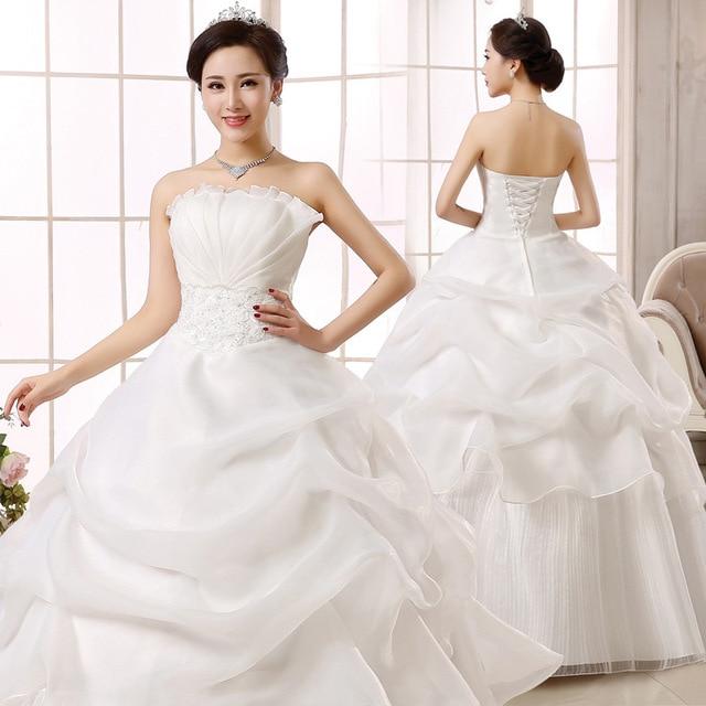 Big Sale E67b Popodion Plus Size Wedding Dress Bride Married Strapless Bride Dress Pregnant Women Red Lace Wedding Gowns N1004 Cicig Co,Rainbow Dip Dye Wedding Dress