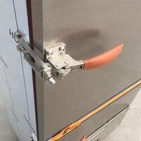 Gratis verzending hendel deurklink stoom doos scharnier oven deurslot koude winkel scharnier kast keuken Vriezer kookgerei reparatie deel