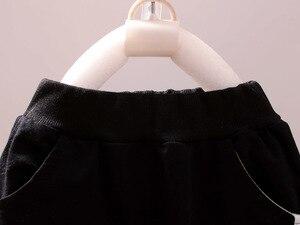 Image 5 - Mode enfants coton vêtements costumes bébé garçons sweats à capuche pour filles T shirt pantalon 3 pièces/ensemble printemps automne enfants Sport vêtements survêtement