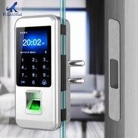 Impressão digital fechadura da porta de vidro fechadura eletrônica fechadura da porta de impressão digital inteligente fechadura da porta de toque cerradura inteligente Trava elétrica     -