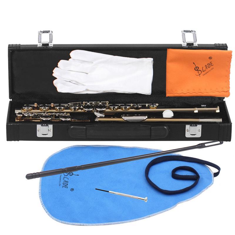 Pour SLADE or corps argent clé flûte C clé Slade or argent clés flûte C clé en bois Instrument de musique flûte de haute qualité