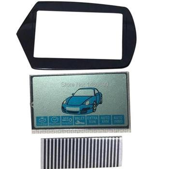 50 pcs/lot B9 LCD display Zebra Paper + keychain Case Glass for Starline B9 lcd remote control Key Chain display Zebra Stripes
