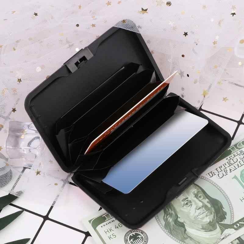 2019 Новый Альпака принт банк Кредитная карта чехол коробка RFID Противоугонный бизнес чехол для удостоверения личности Блокировка Кошка Собака Животное Алюминиевый кошелёк