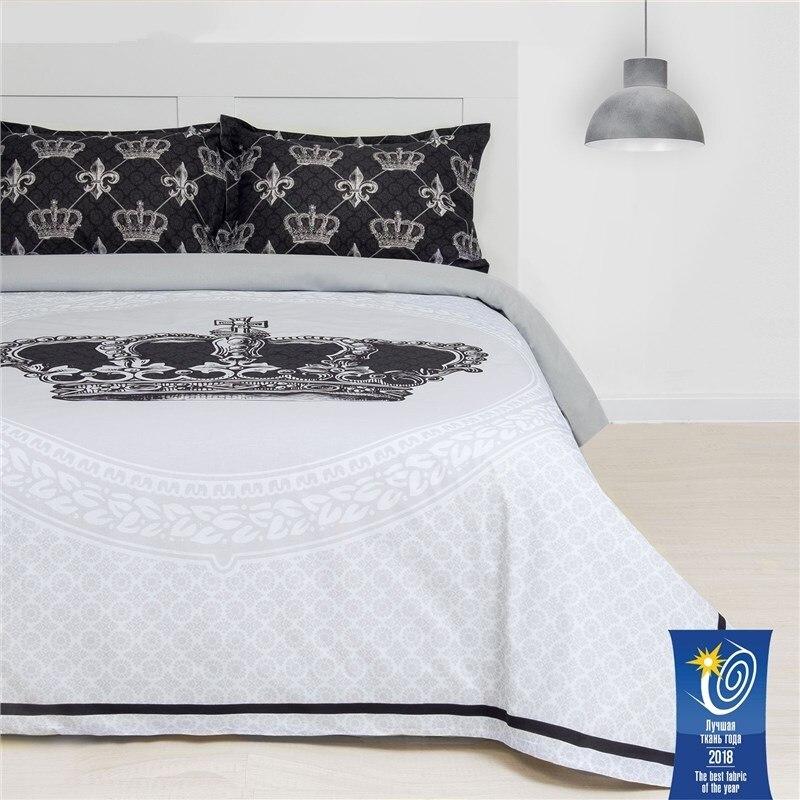 Bed Linen Ethel Euro Imperial 200х217 cm, 220х240 cm, 50х70 + 3 cm-2 pcs, ранфорс 111g/m2 bed linen ethel 1 5 cn imperial 143х215 cm 150х214 cm 50х70 3 2 pcs ранфорс 111g m2
