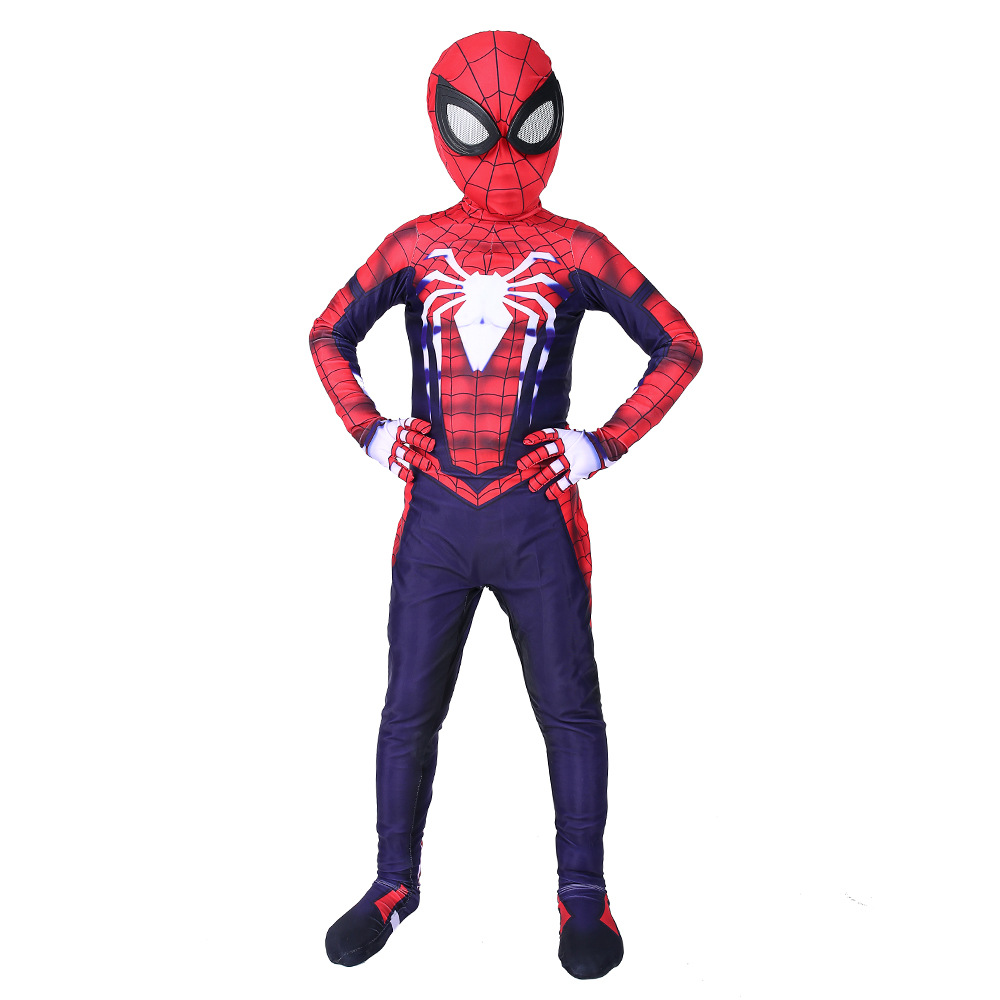 Spider-Man Game Animation Tights Suit Clothing Halloween Marvel Avengers 3 One-Piece Clothes Children