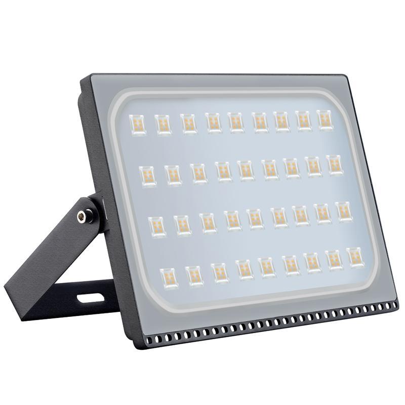 GERUITE 2PCS Ultra thin Led Flood Lights 200W 220V IP65 Outdoor Floodlight Lamp Reflector Led Spotlight Exterior Garden Lights|Floodlights| |  - title=