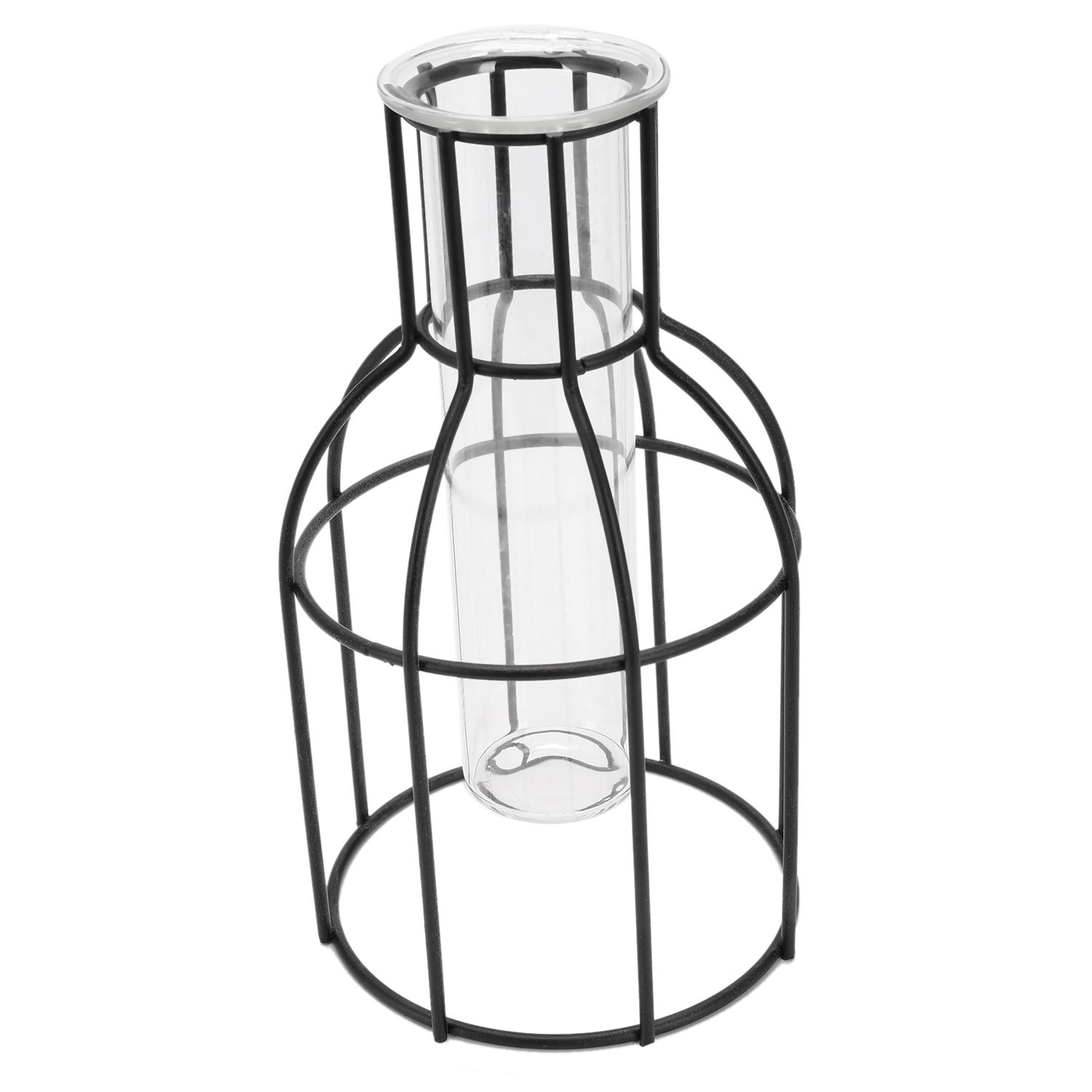 JEYL Nordic Style 3D Glass Iron Art Geometric Vase with Cuvette Tabletop Plant Bonsai Flower Wedding Home Decoration Accessori