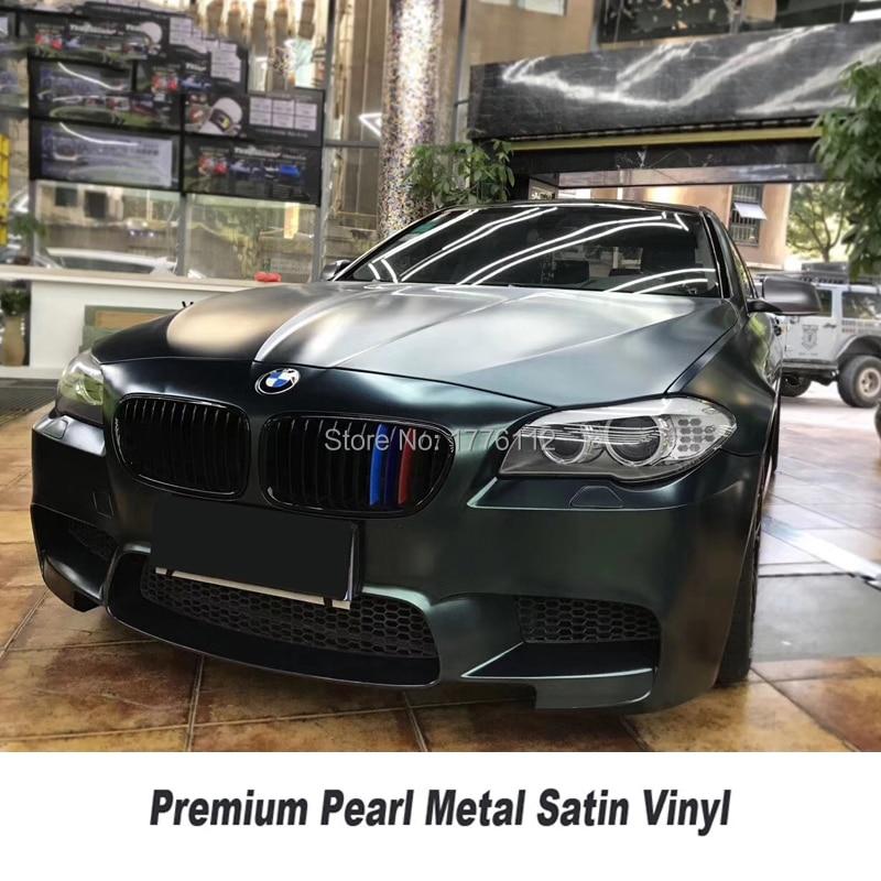 *Premium Matte Metallic Satin Pearl Vinyl Wrap Full Entire Car Air Bubble Free