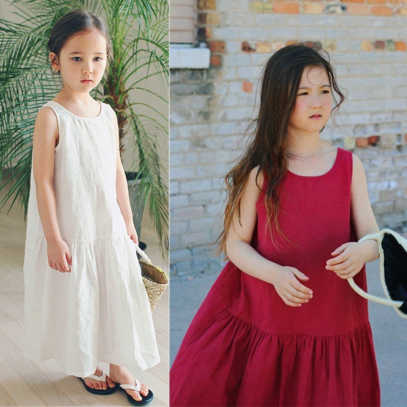 Maxi Long White Red Party Dresses Girl Cotton Teenage Kids Clothes Girls Summer Dress 2019 Holiday Fashion Children ClothingMaxi Long White Red Party Dresses Girl Cotton Teenage Kids Clothes Girls Summer Dress 2019 Holiday Fashion Children Clothing