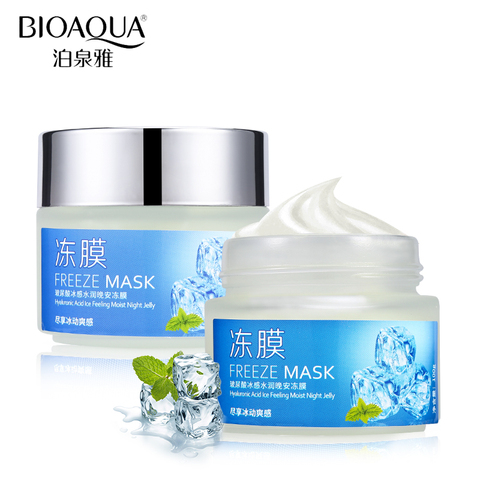 BIOAQUA Hyaluronic Acid Mint Coolness Moisturizing Sleep Facial Mask Moisturizer Nourish Anti-Aging Facial Night Cream Skin Care Karachi