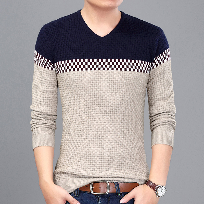 2020 New Year's Pullover Men Hombre Casual Wear Fashion Men's Pullover Sweaters Slim Fit Sweater Male Plus Size M~3XL