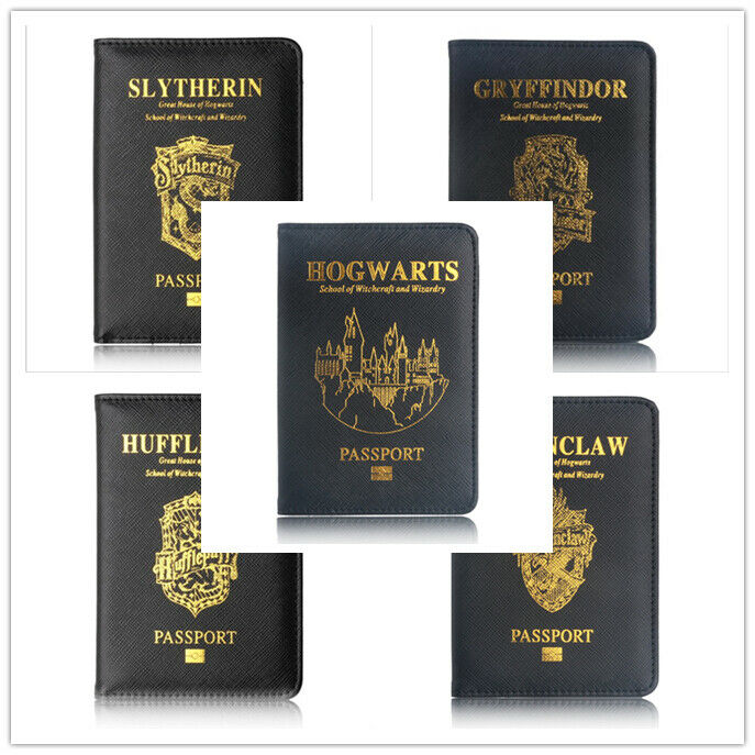 Harri Potter Hogwarts Passport Cover Holder Travel Case Wallet Credit Card Case Gift Cosplay Prop