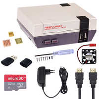 New Retroflag NESPI Case+ Plus +32 GB SD Card+ 3A Power Adapter +Fan Retropie Box for Raspberry Pi 3 Model B+ ( B PLus ) 3B 2B