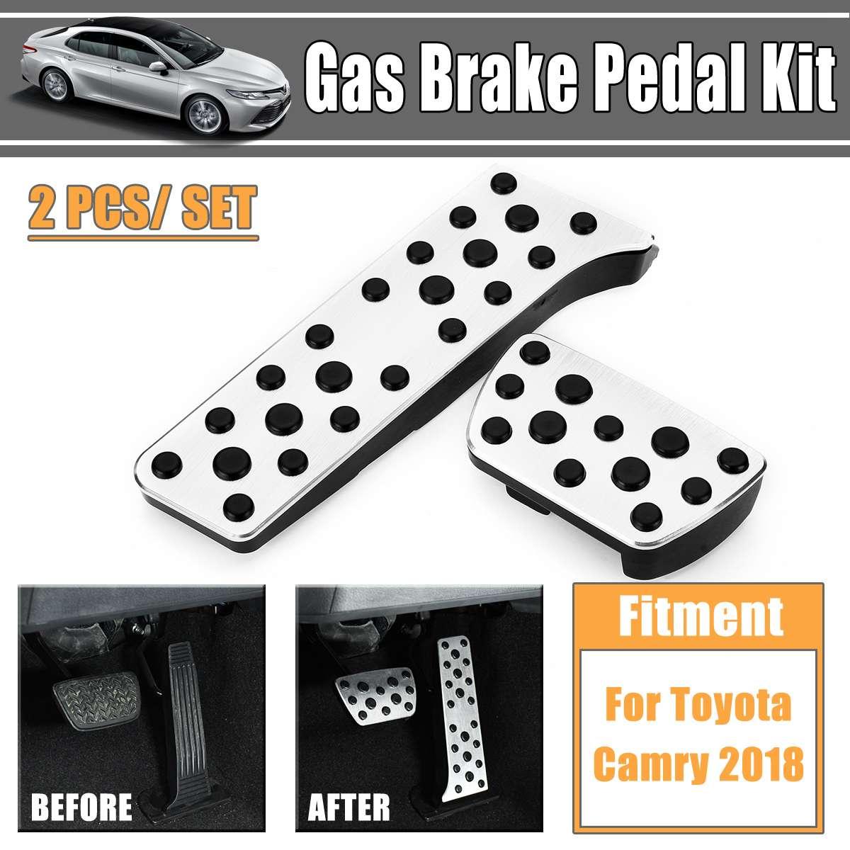 2 Pcs Car Styling Refit Piastra Del Pedale Della Frizione Acceleratore Freno A Pedale Del Gas In Lega Di Alluminio Pedale Kit Pedale Per Toyota Camry 2018