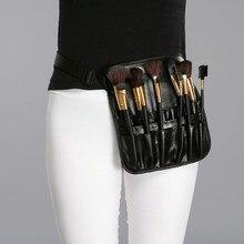 Felicity organizer for Makebag in bag Black Professional Artist Essential Makeup Brush Belt Pocket Case