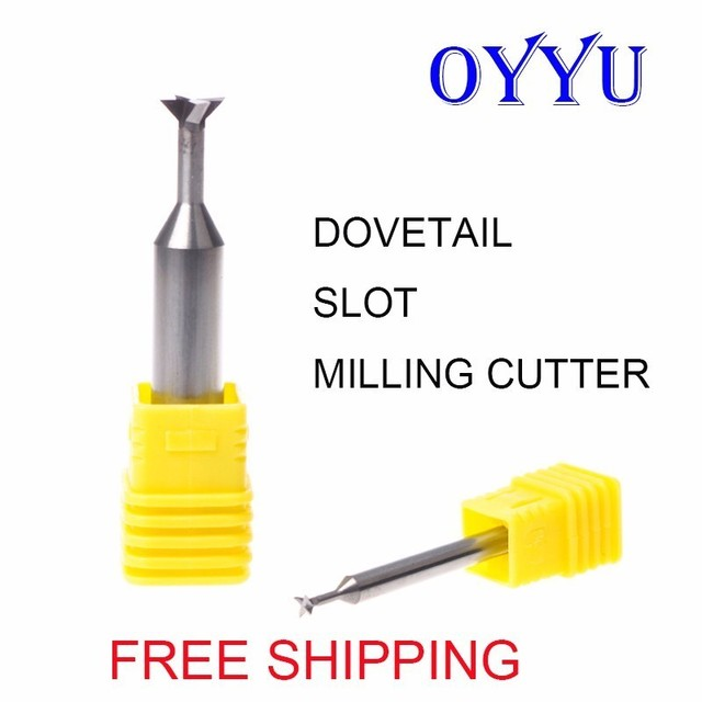 Tungsten steel dovetail knife 45 degree solid carbide dovetail milling cutter CNC machining center 3mm-20mm free shippi