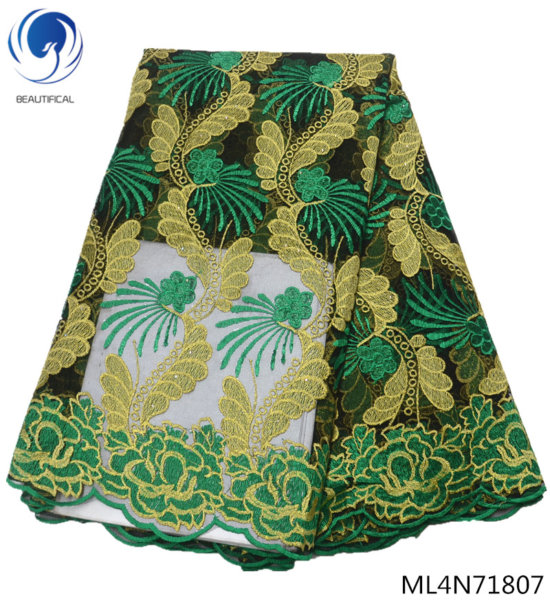 BEAUTIFICAL green lace african fabric nigerian lace fabrics 2019 wedding lace fabric embroidery 5yards/lot quality sales ML4N718BEAUTIFICAL green lace african fabric nigerian lace fabrics 2019 wedding lace fabric embroidery 5yards/lot quality sales ML4N718