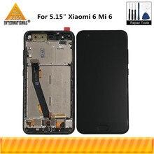 "Original Axisinternational 5.15"" For Xiaomi Mi6 Mi 6 MI 6 MI6 M6 LCD Display Screen+Touch Panel Digitizer With Frame+Fingerprint"