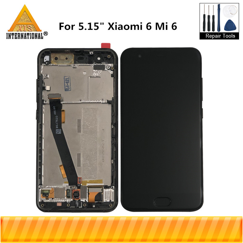 Original Axisinternational For 5.15 Xiaomi Mi6 Mi 6 MI 6 MI6 M6 LCD Display Screen+Touch Panel Digitizer With Frame+FingerprintOriginal Axisinternational For 5.15 Xiaomi Mi6 Mi 6 MI 6 MI6 M6 LCD Display Screen+Touch Panel Digitizer With Frame+Fingerprint